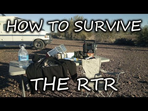 RTR 2019 SURVIVAL TIPS! Be Prepared For Quartzsite BLM Camping The RUBBER TRAMP RENDEZVOUS