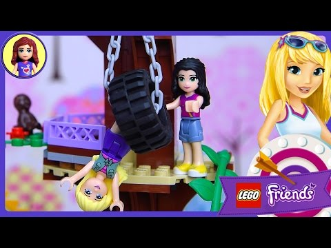 Lego Friends Adventure Camp Tree House Set Build Review Play – Kids Toys