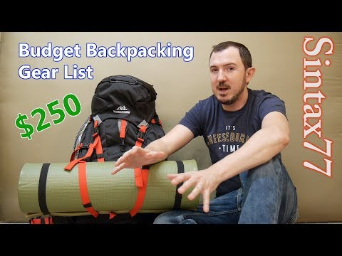 Budget Backpacking Gear List  – Go Camping for $250