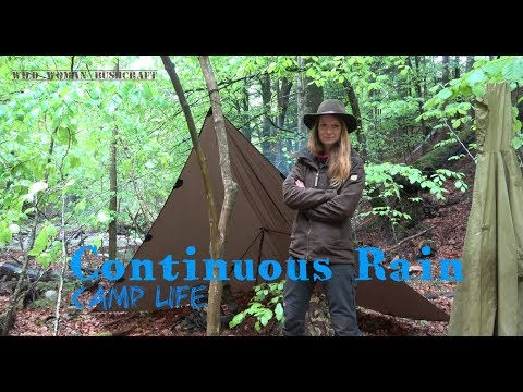 Camp life with continuous rain – Part 1 – Vanessa Blank – Wild Woman Bushcraft