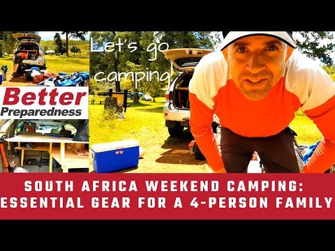 12 Essential Camping Gear for a 4-Person Family | South Africa Weekend Camping!