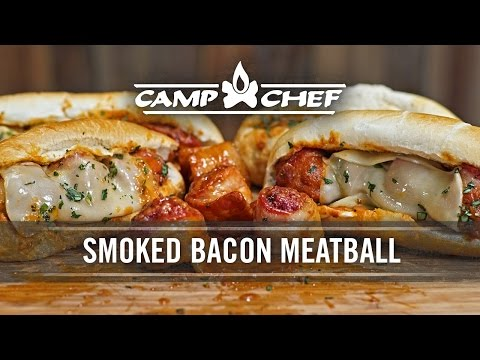 Smoked Bacon Wrapped Meatball Sandwich Recipe | Camp Chef