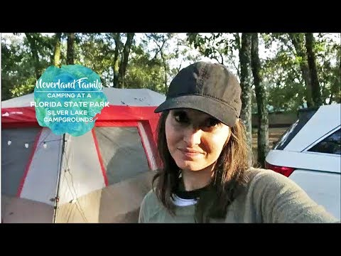 Tent Camping at Silver Lake Campground- Florida State Park