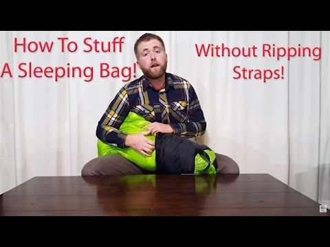 How To Compress And Stuff A Sleeping Bag Without Breaking The Straps! – Outdoor Vitals