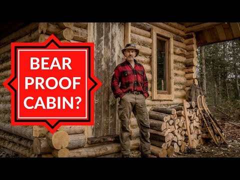 Insecurity at the Off Grid Cabin – Doors, Firewood and an Outhouse