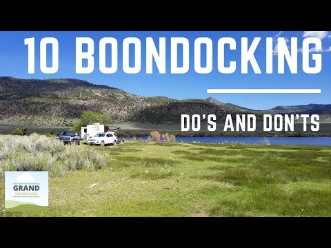 Ep. 84: 10 Boondocking Do's and Don'ts   RV camping tips tricks how-to etiquette