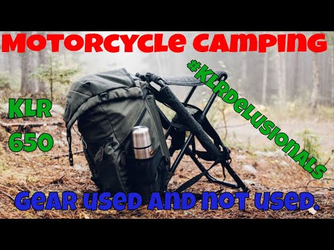 Motorcycle camping gear that I will and will not use next time #KLRDelusionals