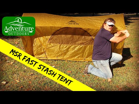 Camping Gear ~ MSR Fast Stash 2 Person Tent ~ Complete Tent Set-Up