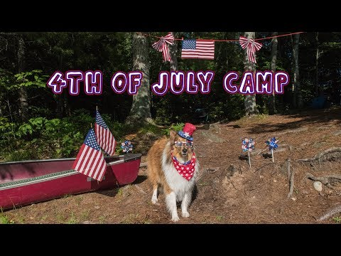 Overnight Canoe Camping with My Dog – 4th of July Edition!