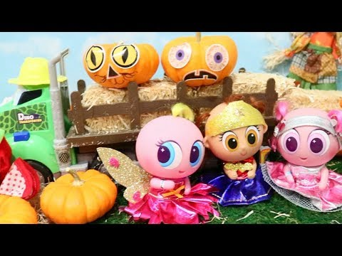 Pumpkin Patch Trip ! Toys and Dolls Fun Pretend Play with Babies & Toddlers   SWTAD