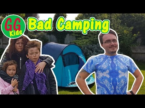 Camping – Dad vs Family – GGKids go camping – Funny Comedy Short video