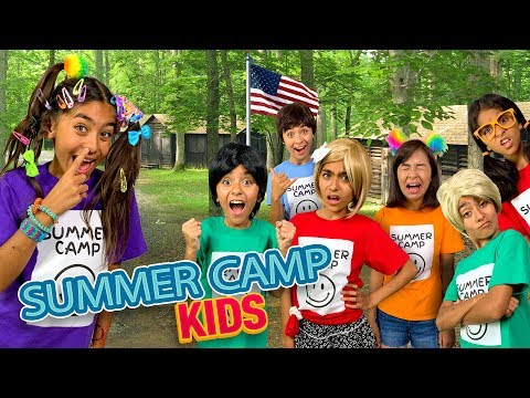 Types of Kids Summer Camp – Comedy Funny Skits // GEM Sisters