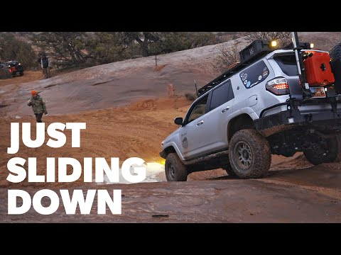 NO Traction on Slick Rock – Rained out in Moab