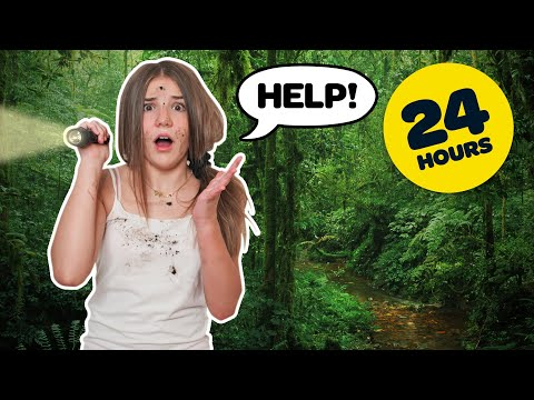 Surviving 24 HOURS in the Woods OVERNIGHT CHALLENGE *Gone Wrong*🌲⛺️| Piper Rockelle