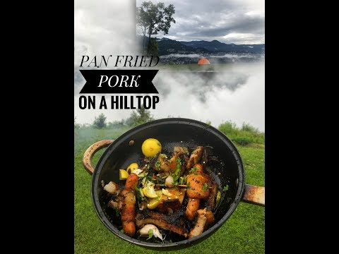Camping in The Rain, Cooking Pork, Camping In Sikkim
