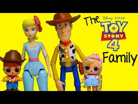 LOL Families ! The Toy Story 4 Family and Uncle Buzz | Toys and Dolls Fun Play for Kids | SWTAD