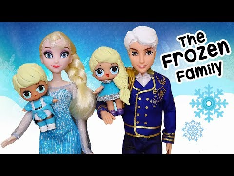The Frozen Family with Rascal Brother ! Toys and Dolls Fun Play for Kids | SWTAD LOL Families