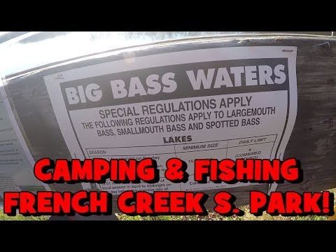 3-DAYS CAMPING!!! Fishing the FRENCH CREEK STATE PARK! (Chester County, PA)
