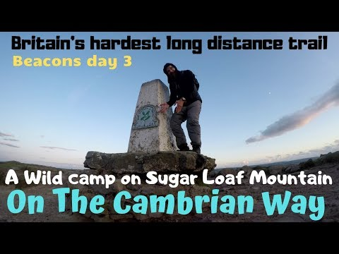 Sugar Loaf Mountain Wild camping in vango f10 helium ul 1 tent on The Cambrian Way.