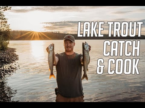 Temagami Lake Trout Fishing Camp Poutine Recipe & Lake Trout Catch and Cook Our New Honda 30 Horse