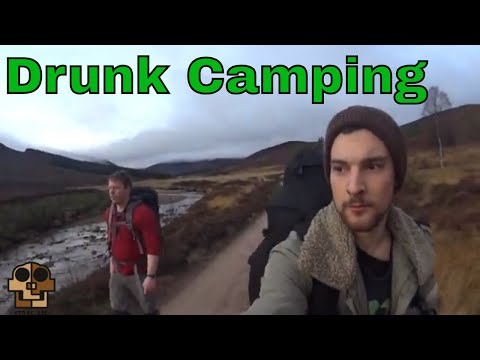 Drunk camping: Overnight in the mountains. (Turn on the subtitles)