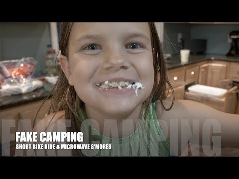 FAKE CAMPING | SHORT BIKE RIDE & MICROWAVE S'MORES