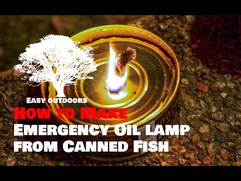 Emergency Oil lamp from Canned Fish / Sprotikonservist õlilamp   – Outdoors Camping Tips