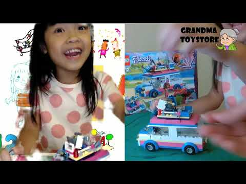 Blaire lego friends science camping van – explore with Blaire