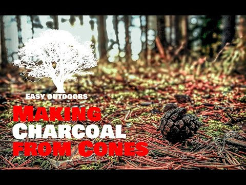 How to Make Charcoal from Cones / Süsi käbidest – Outdoors Camping Tips