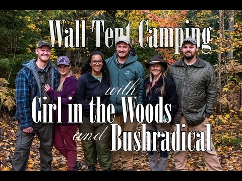 Northern Michigan Wall Tent Camping with Bushradical and Girl in the Woods – Campfire Cooking