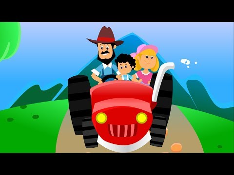 The Farmer in the Dell | English Nursery Rhyme | Kids Tv Cartoons For Toddlers
