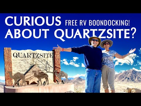 Free Camping in The Desert | Boondocking at Quartzsite
