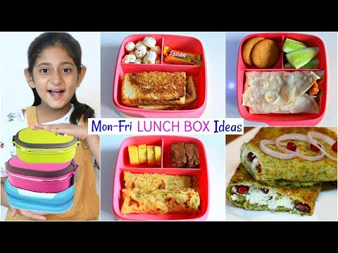 MONDAY To FRIDAY Kids LUNCH BOX Recipes   #MyMissAnand #CookWithNisha