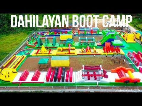 Philippines' Largest Inflatable Obstacle Course at Dahilayan Boot Camp 4K