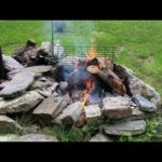 Campfire  Lunch With Tom @ The Rustic Log Cabin Deer Hunting Deer Camp