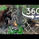 Bushcraft Camp 360 Tour / 30 Day Survival Challenge Canadian Rockies