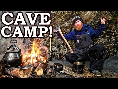 CAVEMAN CAMPING in a CAVE! | Surviving 5 Days 'ON ICE' in VERMONT