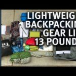 Lightweight 5 day Backpacking Gear List | 13 Pound Gear List