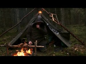 Caught in a Storm – 4 days solo bushcraft, camping in heavy rain, portable wood stove, canvas tent
