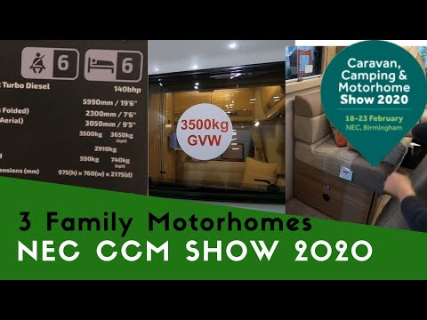 Three Family Motorhomes  | Caravan Camping And Motorhome Show 2020 Pt10👪